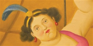 equilibrista [detail] by fernando botero